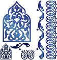 Islamic design elements vector image