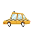 Isolated taxi design vector image