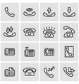 line telephone icon set vector image