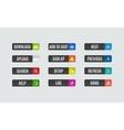 Modern flat design website navigation buttons vector image