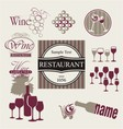 Set of wine and drink design elements vector image