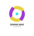 simple loop geometric logo design vector image