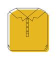yellow watercolor silhouette of men polo shirt vector image