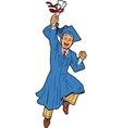 Young Man Graduation vector image