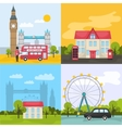 London Colored Compositions vector image