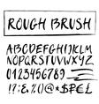 Rough brush alphabet vector image