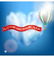 Hot air balloon with banner EPS 10 vector image vector image