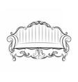 Royal Sofa with ornaments vector image