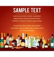 Various Alcohol Bottles in a Bar Counter vector image vector image