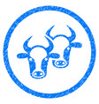 livestock rounded grainy icon vector image