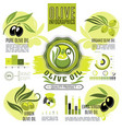 olive oil product infographics elements vector image