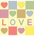 Romantic patchwork vector image vector image
