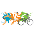 Triathlon racers vector image