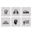 SEO internet marketing icons vector image