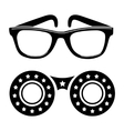 Sunglasses icon in disco style vector image