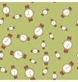 Seamless pattern with hand watches 570 vector image