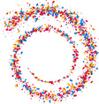 Background with spiral of confetti vector image
