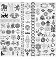 Baroque set vector image