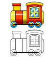 Doodles train vector image