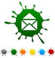 e-mail blot vector image