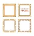 Ethnic frame set vector image
