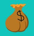 flat icon on theme arabic business money bag vector image