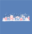 Home in the winter vector image