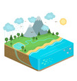 isometric nature vector image