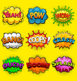 multicolored comic speech bubbles sound effects vector image