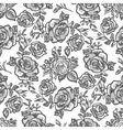 pattern grey rose branch vector image