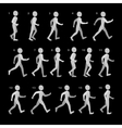 Phases of Step Movements Man in Walking Sequence vector image