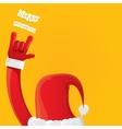 Santa Claus rock n roll icon vector image