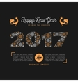 Trendy Happy New Year card 2017 numbers vector image