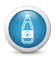 Coffee Bottle glossy icon vector image vector image