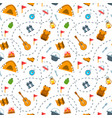 hiking tourism flat seamless background pattern vector image
