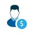 user icon a businessman account earn money vector image