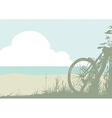 Summer landscape with a bicycle vector image vector image
