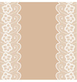 Beige background with two lacy borders vector image