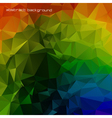 Rainbow colored triangles vector image