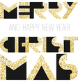 Merry Christmas gold cover design vector image