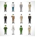 Military Avatars Set vector image