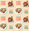 seamless pattern breakfast vector image