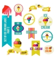 Set of modern ice cream shop badges and labels vector image