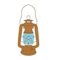 vintage kerosene lamp over white vector image