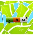 Location buttons vector image vector image