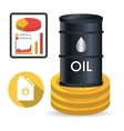 petroleum and oil price design vector image