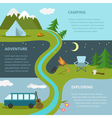 Camping template concept vector image