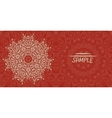 Wedding or invitation card design made of tribal vector image