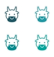 Set of stickers Indian cow on white background vector image