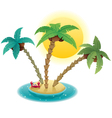 small island vector image